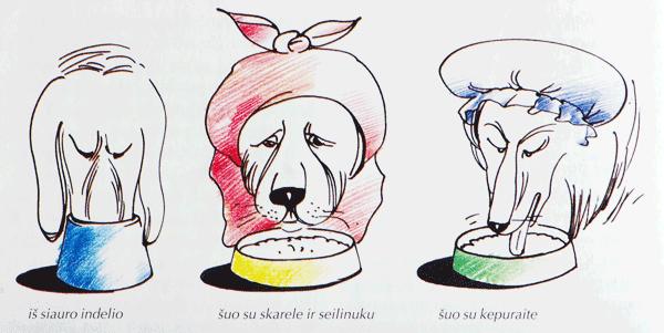 Ilgaausių su kabančiomis ausimis šunų šėrimas